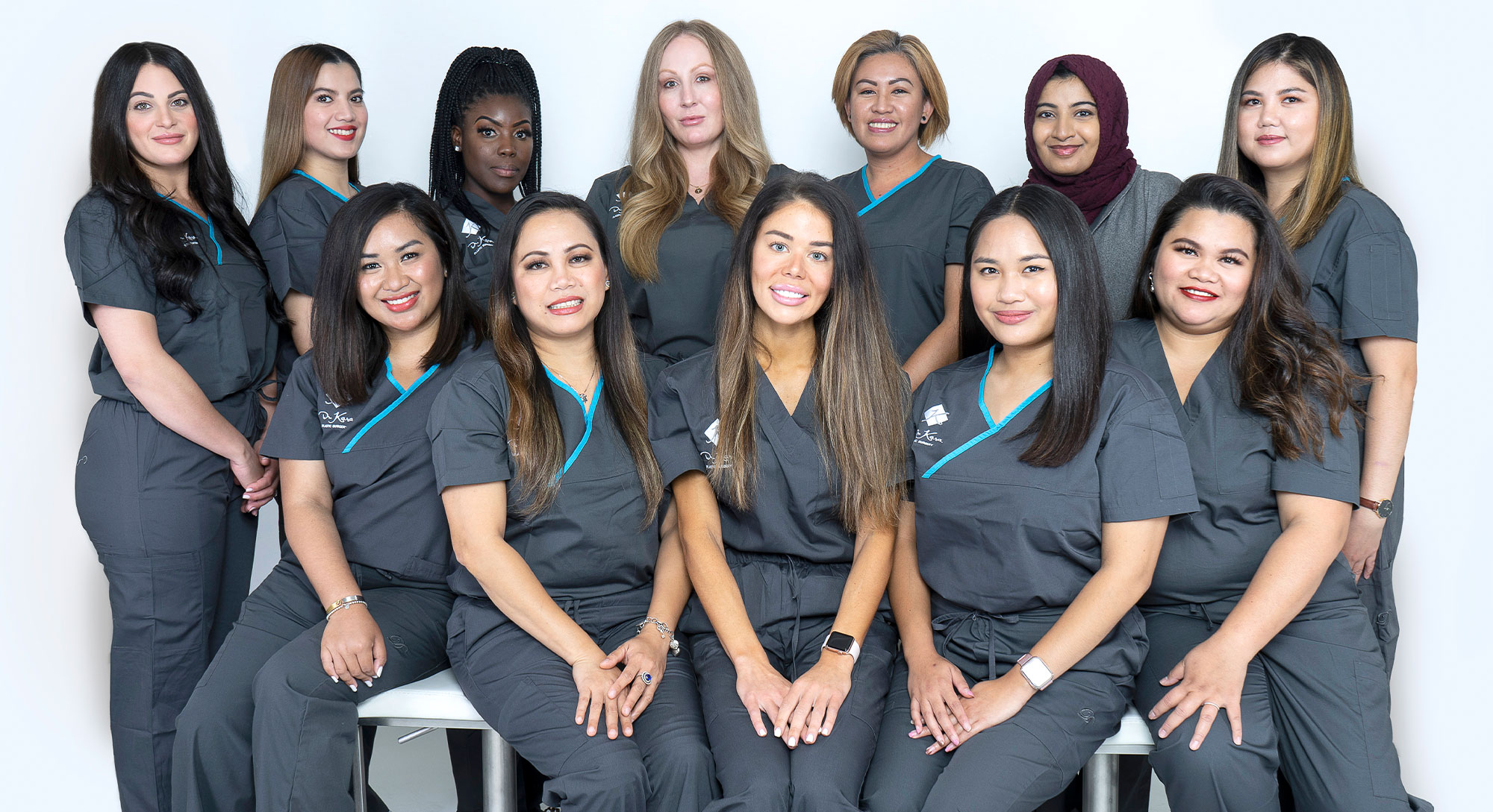 The staff of Toronto plastic surgeon Dr Mahmood Kara.