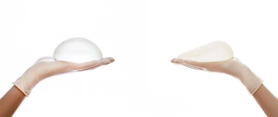 Breast implant round and teardrop shape